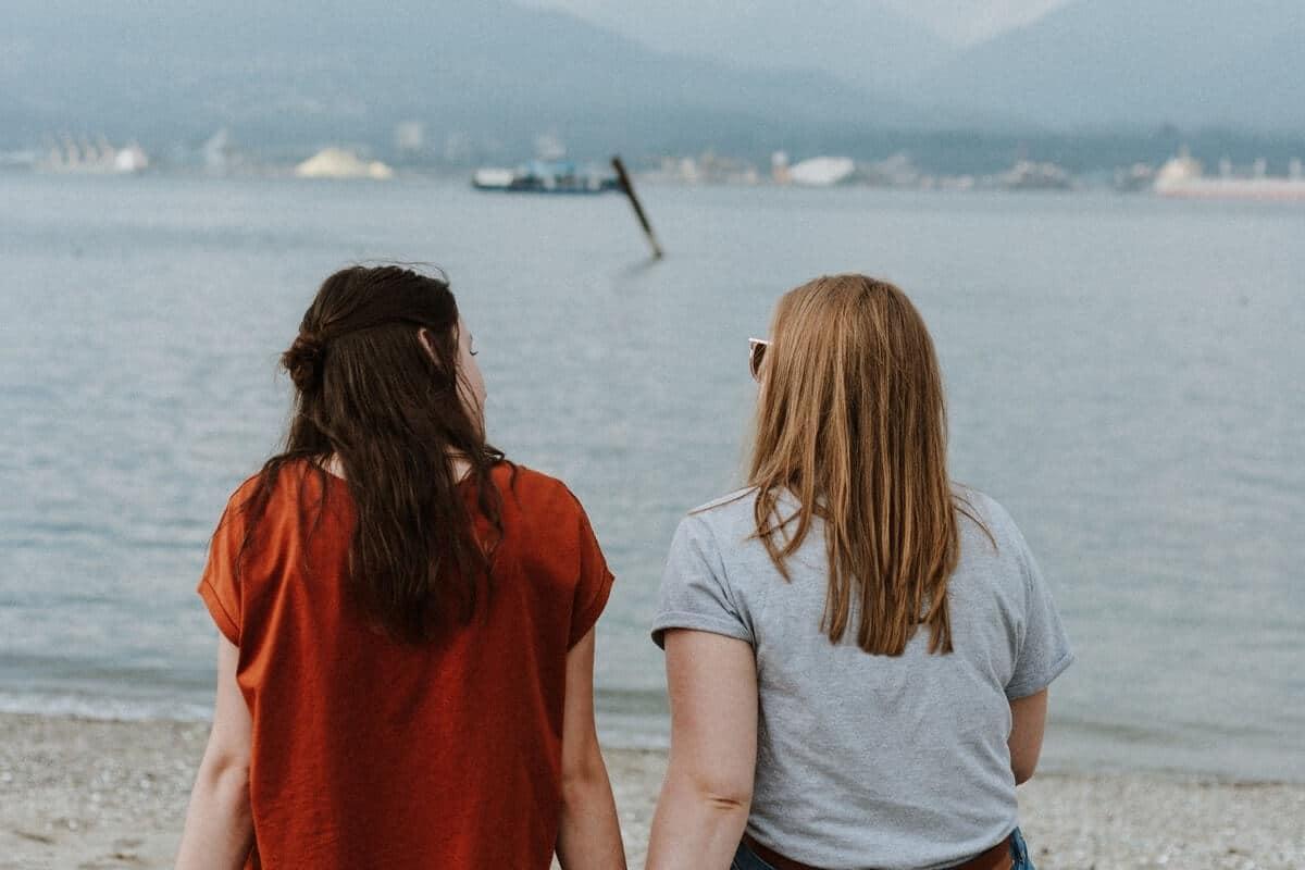 Kvinder på strand